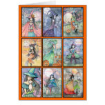 Nine Witches Halloween Card