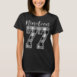 Nineteen 77 Buffalo Check Plaid 1977 40th Birthday T-Shirt