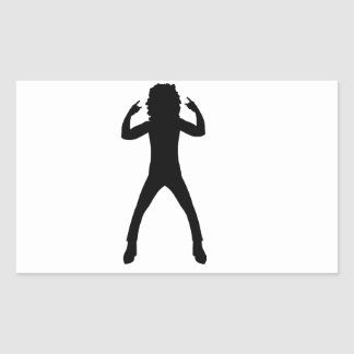 Nineteen Eighties Rocker Rectangular Sticker