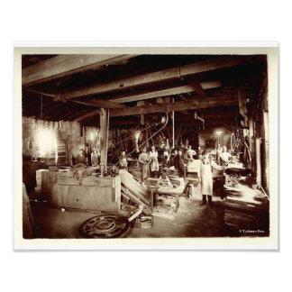Nineteenth Century Water Pattern Maker's Shop Photographic Print