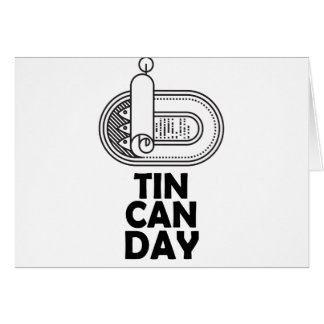 Nineteenth January - Tin Can Day Card