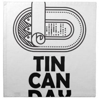 Nineteenth January - Tin Can Day Napkins