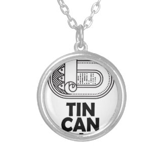 Nineteenth January - Tin Can Day Silver Plated Necklace