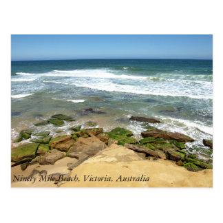 Ninety Mile Beach, Victoria, Australia Postcard