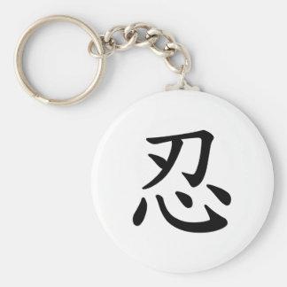 Ninja 忍 - Japanese and Chinese calligraphy Key Ring