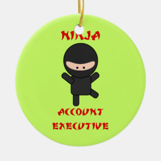 Ninja Account Executive Ceramic Ornament
