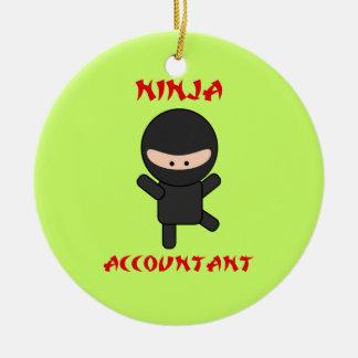 Ninja Accountant Ceramic Ornament