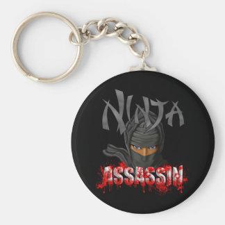 Ninja Assassin Basic Round Button Key Ring