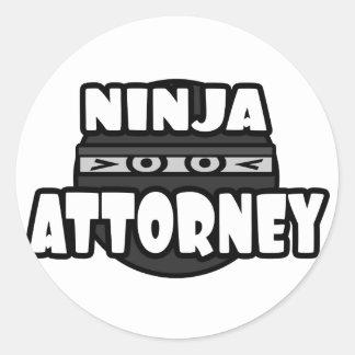 Ninja Attorney Round Sticker
