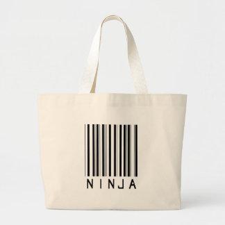 Ninja Bar Code Large Tote Bag