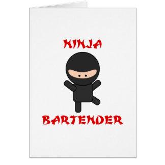 Ninja Bartender Plain Card