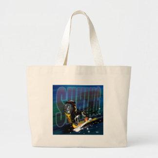 Ninja Biker Large Tote Bag