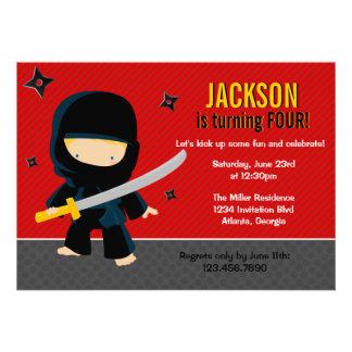 Ninja Birthday Party Invite