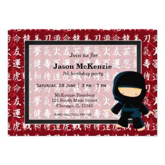 Ninja birthday theme custom announcements