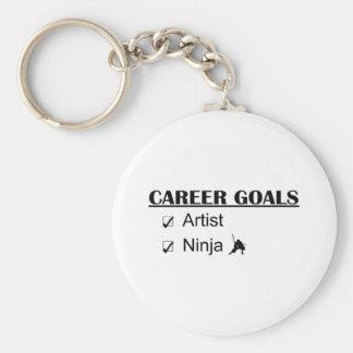 Ninja Career Goals - Artist Basic Round Button Key Ring