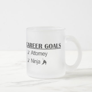 Ninja Career Goals - Attorney Frosted Glass Mug