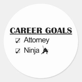 Ninja Career Goals - Attorney Stickers