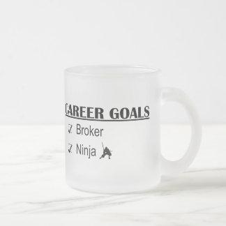 Ninja Career Goals - Broker Frosted Glass Mug