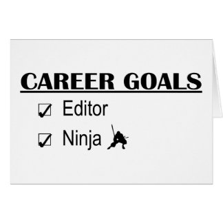 Ninja Career Goals - Editor Card