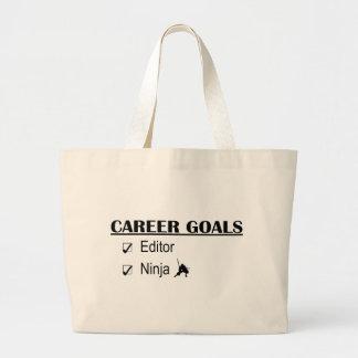 Ninja Career Goals - Editor Jumbo Tote Bag