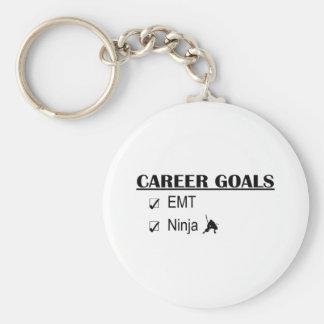 Ninja Career Goals - EMT Basic Round Button Key Ring