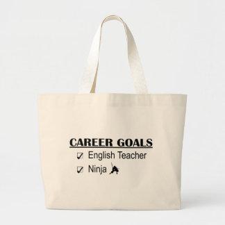 Ninja Career Goals - English Teacher Jumbo Tote Bag
