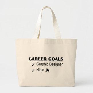 Ninja Career Goals - Graphic Designer Jumbo Tote Bag