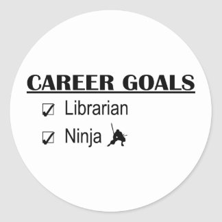 Ninja Career Goals - Librarian Classic Round Sticker