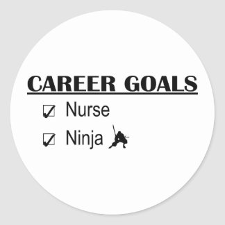 Ninja Career Goals - Nurse Classic Round Sticker