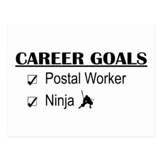 Ninja Career Goals - Postal Worker Postcard