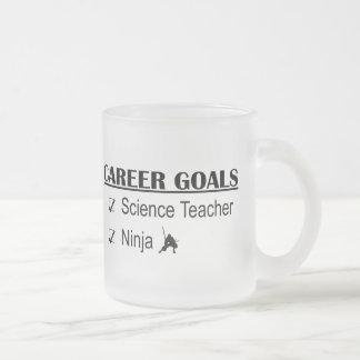 Ninja Career Goals - Science Teacher Frosted Glass Mug