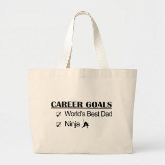 Ninja Career Goals - World's Best Dad Canvas Bag