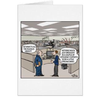Ninja efficiency expert office greeting card