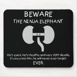 Ninja Elephant! Mouse Pad