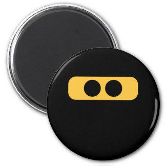 Ninja eyes 6 cm round magnet