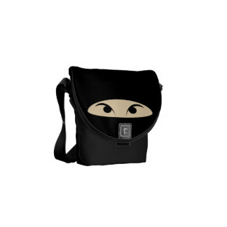 Ninja Face Messenger Bags