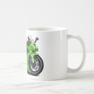 Ninja Green Bike Basic White Mug