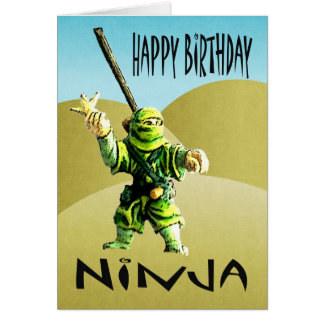 Ninja Happy Birthday Card
