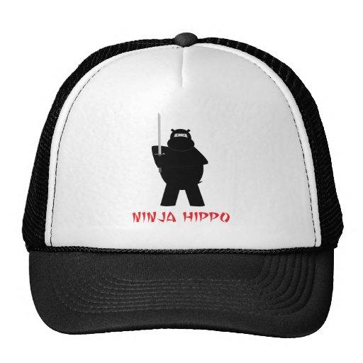 Ninja Hippo Trucker Hat