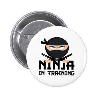 Ninja In Training 6 Cm Round Badge