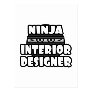 Ninja Interior Designer Postcard