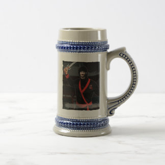 Ninja Japanese Warrior - with YOUR Photo & Text - Beer Stein