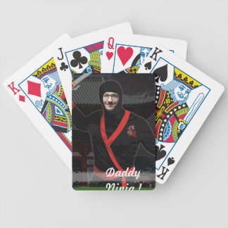 Ninja Japanese Warrior - with YOUR Photo & Text - Bicycle Playing Cards