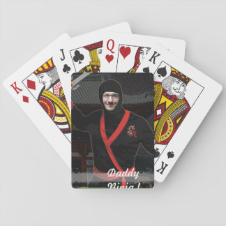 Ninja Japanese Warrior - with YOUR Photo & Text - Playing Cards