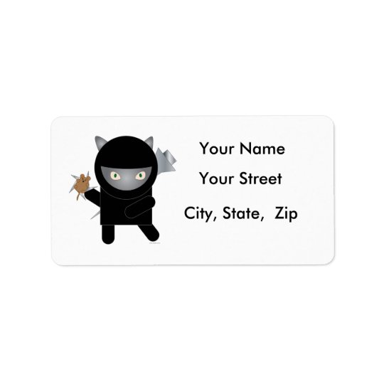 Ninja Kitty Address Labels
