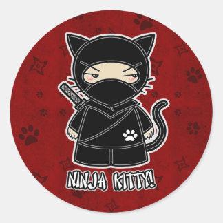 Ninja Kitty! In Red Sticker