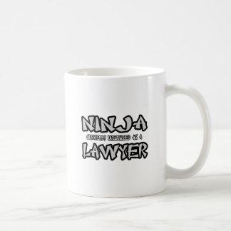 Ninja...Lawyer Basic White Mug