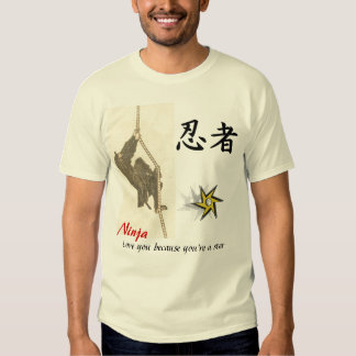 Ninja love you because you're a star tshirts