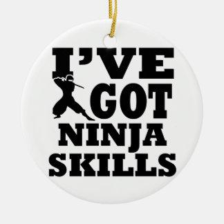 Ninja Martial Arts designs Ceramic Ornament