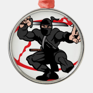 Ninja Metal Ornament